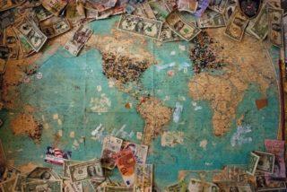 מפה פיננסית עולמית - תמונה להמחשה