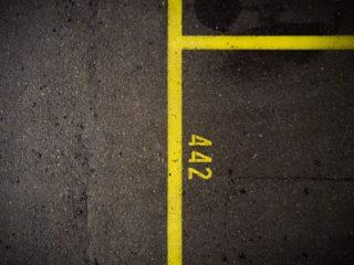 חנייה מסומנת בצהוב