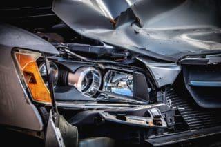 מכונית מרוסקת לאחר תאונה - אילוסטרציה