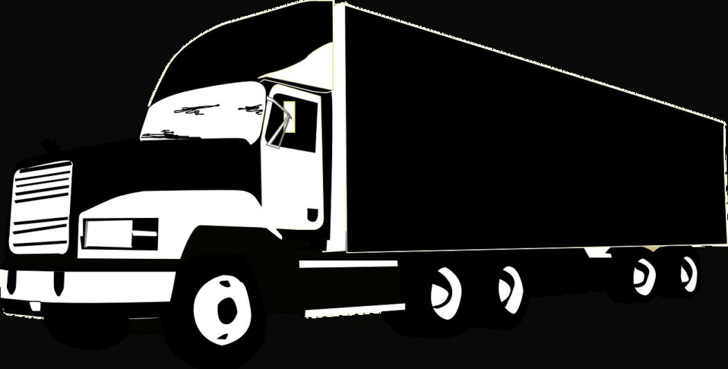 משאית בשחור לבן